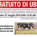"""Domenica 27  maggio 2018 """"Corso Gratuito di Ubbidienza"""""""
